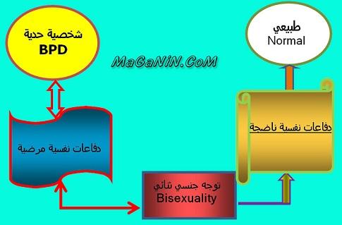 الدفاعات النفسية والرغبات الجنسية ثنائية التوجه